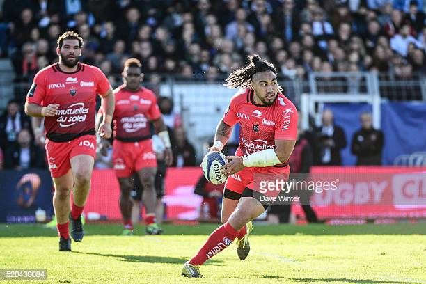 Maa Nonu of Toulon during the European Rugby Champions Cup Quarter Final between Racing 92 v RC Toulon at Stade Yves Du Manoir on April 10 2016 in...
