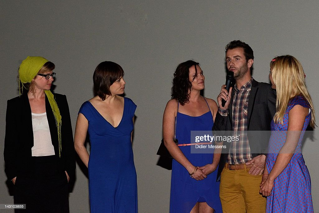 Maaike Neuville, Eline Kuppens, Marieke Dilles and Ellen Schoeters attend the Q&A at Antwerp premiere of 'Weekend At The Sea' (Weekend Aan Zee) at Metropolis on April 18, 2012 in Antwerpen, Belgium.