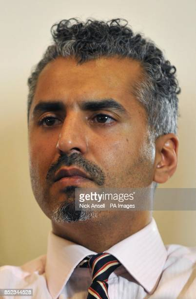 Maajid Nawar Chairman and cofounder of the Quilliam Foundation during a press conference at the Montague Hotel central London where English Defence...