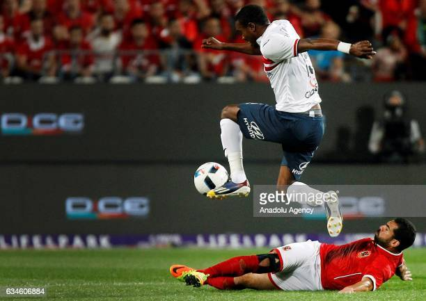 Maarouf Yussuf of Zamalek in action during the Egypt Super Cup final match between Al Ahly and Zamalek at the Mohammed Bin Zayed Stadium in Abu Dhabi...