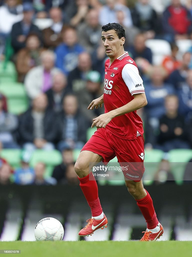 Maarten Martens of AZ during the Dutch Eredivisie match between FC Groningen and AZ Alkmaar at De Euroborg on Oktober 6, 2013 in Groningen, The Netherlands