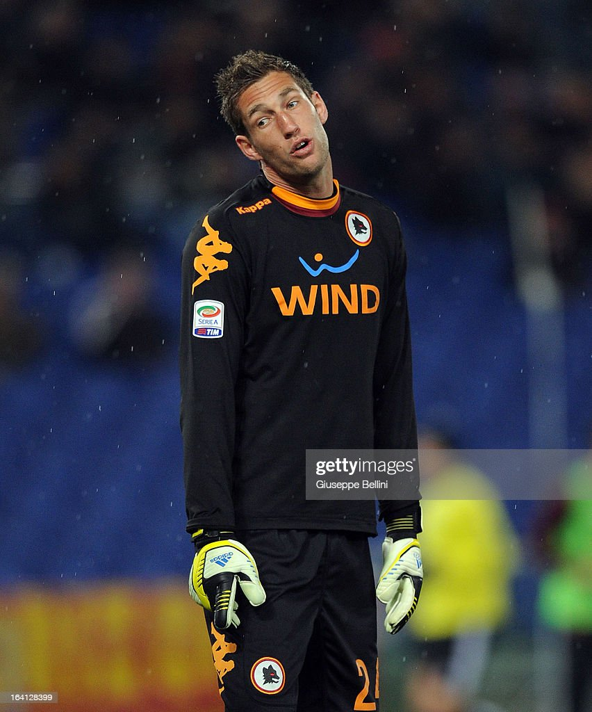 Maarten Stekelenburg of Roma in action during the Serie A match between AS Roma and Parma FC at Stadio Olimpico on March 17, 2013 in Rome, Italy.