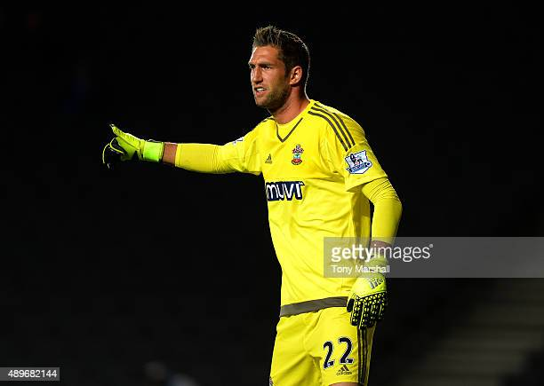 Maarten Stekelenburg of Southampton during the Capital One Cup third round match between MK Dons and Southampton at Stadium mk on September 23 2015...