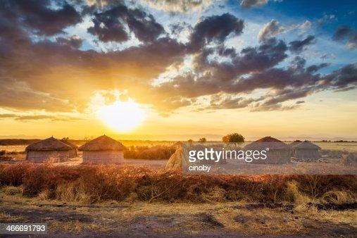 Maasai village by Sunset - Tarangire National Park
