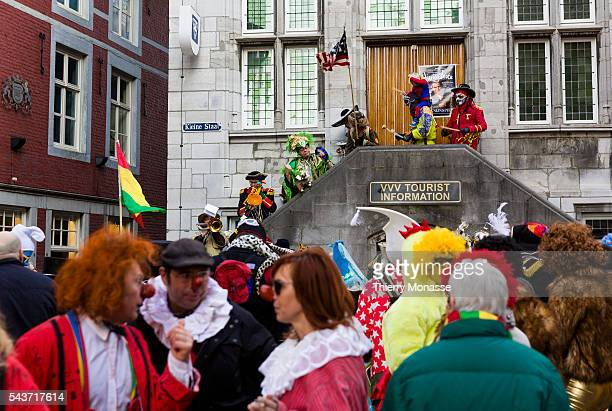 Maastricht Limburg Netherlands February 15 2015 — People enjoy the carnival in Maastricht