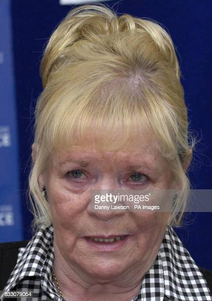 Mabel Best mother of murder victim Andrew Best during a press conference at Strathclyde Police Headquarters in Glasgow