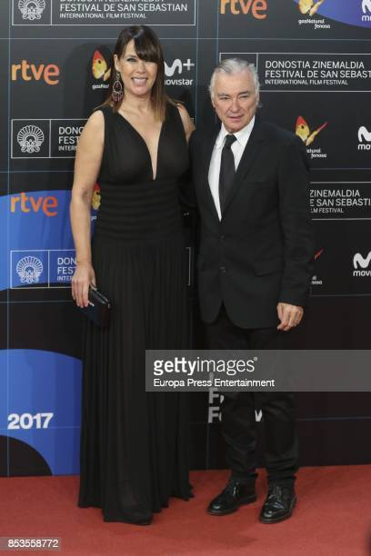 Mabel Lozano and Eduardo Campoy attend Gas Natural Fenosa presentation during 65th San Sebastian Film Festival on September 22 2017 in San Sebastian...