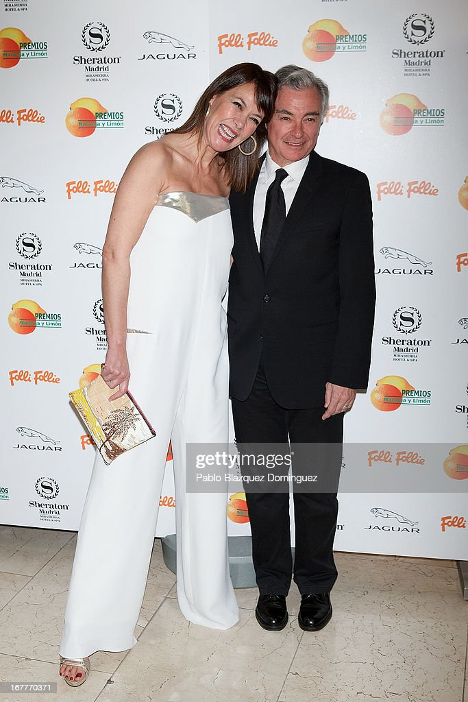 Mabel Lozano and Eduardo Campoy attend 'Orange And Lemon' Awards ceremony at Sheraton Mirasierra Hotel on April 29, 2013 in Madrid, Spain.