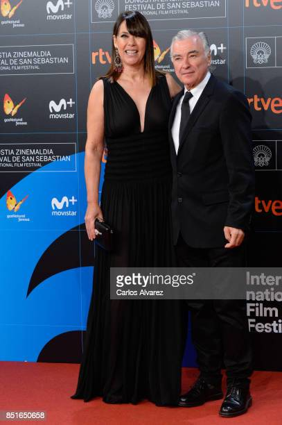 Mabel Lozano and Eduardo Campoy attend 'Submergence' premiere during 65th San Sebastian Film Festival on September 22 2017 in San Sebastian Spain