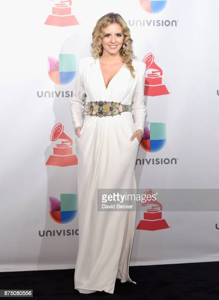 Mabel Millan poses in the press room during The 18th Annual Latin Grammy Awards at MGM Grand Garden Arena on November 16 2017 in Las Vegas Nevada