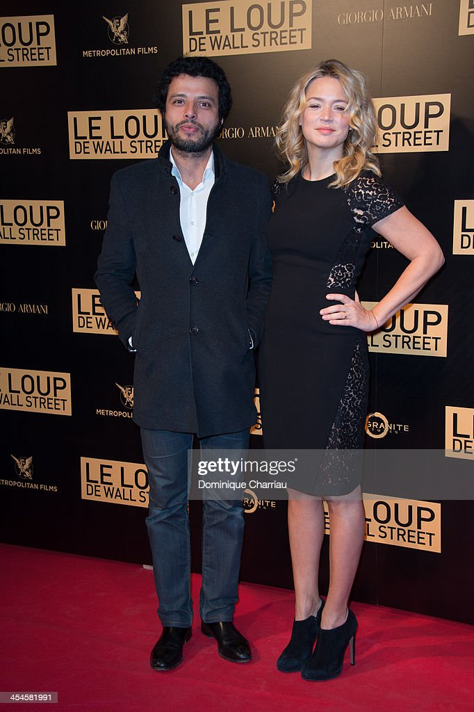 Mabrouk El Mechri and his wife Virginie Efira attend the' Wolf of Wall Street' Photocall At Cinema Gaumont Opera Capucines at Cinema Gaumont Opera on December 9, 2013 in Paris, France.