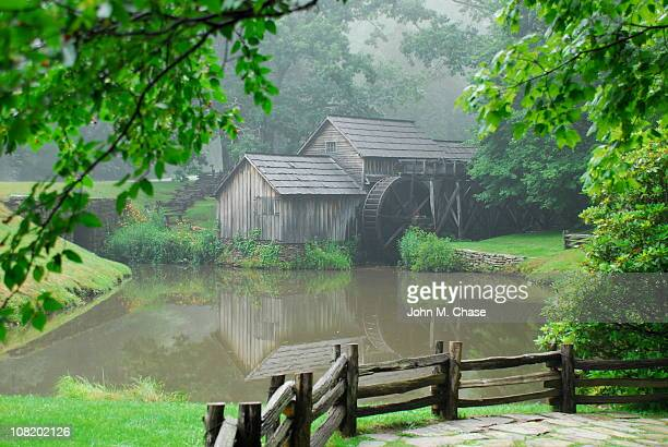 Mabry Mill on edge of pond