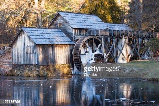 Mabry Mill Winter Morning