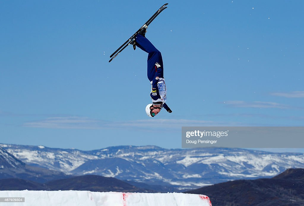Mac Bohonnon jumps to first place in the men's aerials at the 2015 US Freestyle Ski National Championships at Steamboat Ski Resort on March 28 2015...