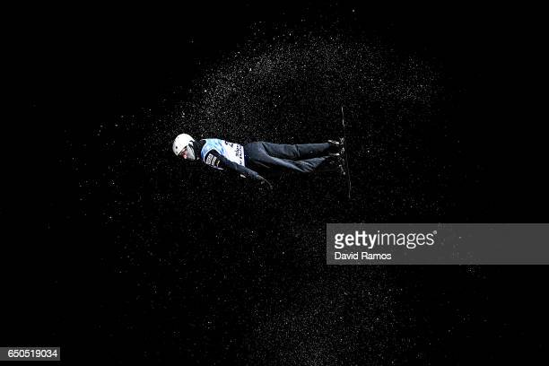 Mac Bohonnon of United States in action during Men's Aerials Training on day two of the FIS Freestyle Ski and Snowboard World Championships 2017 on...