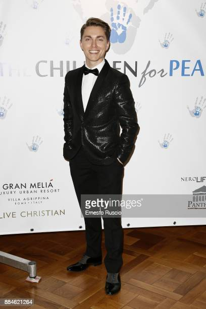 Mac Zavadsky arrives for the Children for Peace Gala Dinner at Cardinal Gallery on December 2 2017 in Rome Italy