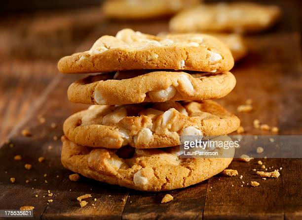 Noz de Macadamia e Chocolate branco Cookies