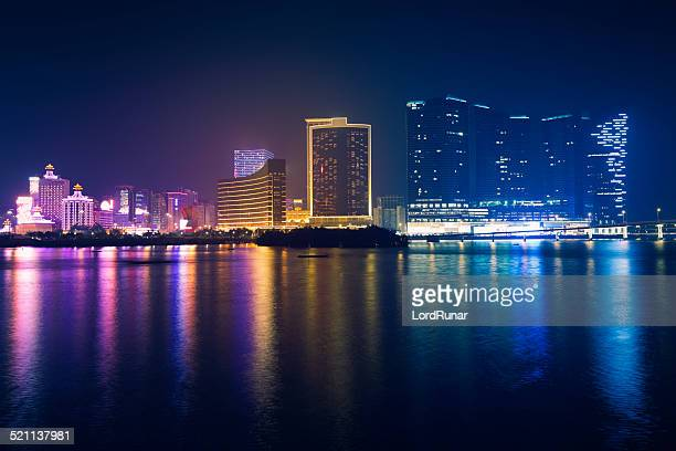 Macao skyline at night