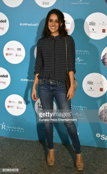 Macarena Garcia attends James Rhodes concert at the Royal Theatre on July 27 2017 in Madrid Spain