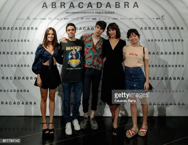 Macarena Garcia Javier Ambrossi Javier Calvo Belen Cuesta and Anna Castillo attend the 'Abracadabra' premiere at Palacio de la Prensa cinema on July...