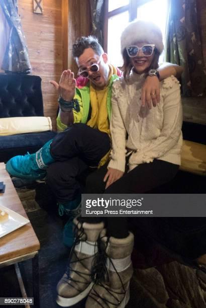 Macarena Gomez and Aldo Comas attend Moet Winter Lounge In Baqueira ski resort on December 8 2017 in Baqueira Beret Spain