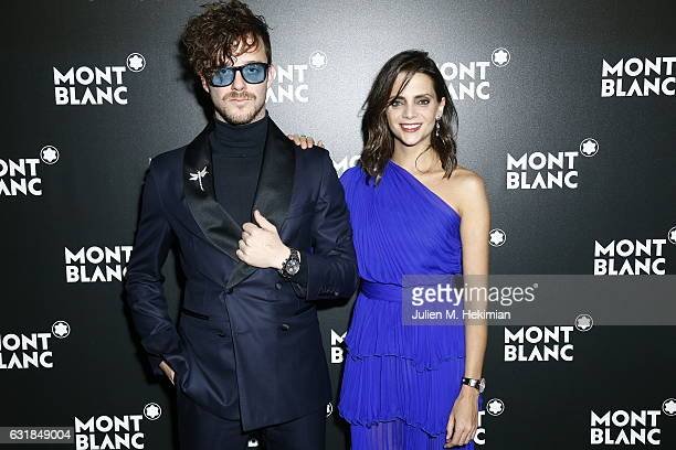 Macarena Gomez and Aldo Comas attend the Montblanc Gala Dinner At Brasserie Des Halles as part of the SIHH on January 16 2017 in Geneva Switzerland
