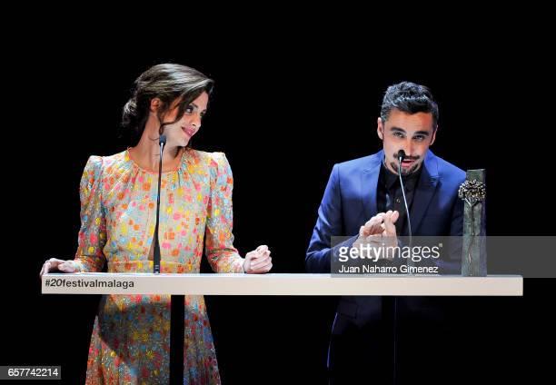 Macarena Gomez and Canco Rodriguez attends 'Bizanaga de oro' Cinema Awards 2017 on March 25 2017 in Malaga Spain