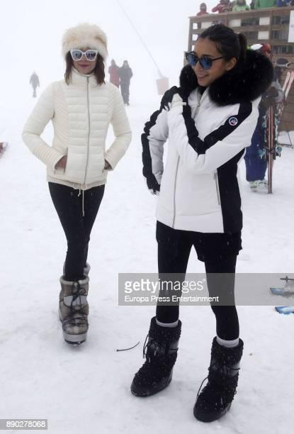 Macarena Gomez and Izah attend Moet Winter Lounge In Baqueira ski resort on December 8 2017 in Baqueira Beret Spain