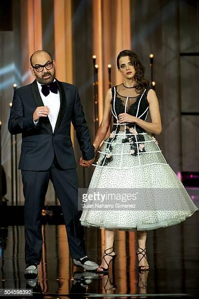 Macarena Gomez and Jose Corbacho attend 'Jose Maria Forque Awards 2015' at the Palacio Municipal de Congresos on January 11 2016 in Madrid Spain