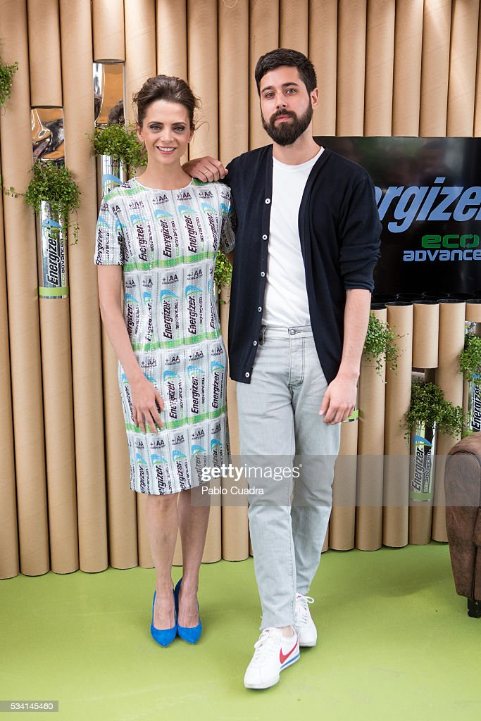 Macarena Gomez and Moises Nieto present the new Eco Advance recycled batteries by Energizer at 'The Hat' hotel on May 25 2016 in Madrid Spain