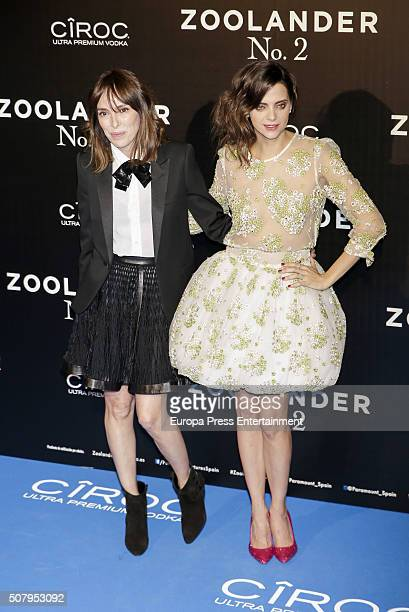 Macarena Gomez and Teresa Helbig attend the Madrid Fan Screening of the Paramount Pictures film 'Zoolander No 2' at the Capitol Theater on February 1...