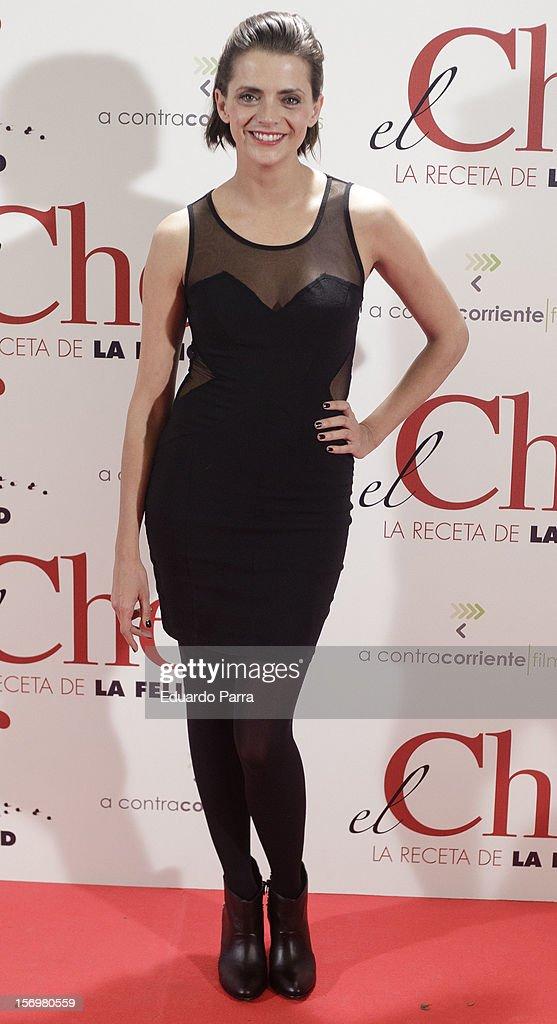 <a gi-track='captionPersonalityLinkClicked' href=/galleries/search?phrase=Macarena+Gomez&family=editorial&specificpeople=2532473 ng-click='$event.stopPropagation()'>Macarena Gomez</a> attends 'El chef, la receta de la felicidad' ('Comme un chef') premiere photocall at Palafox cinema on November 26, 2012 in Madrid, Spain.