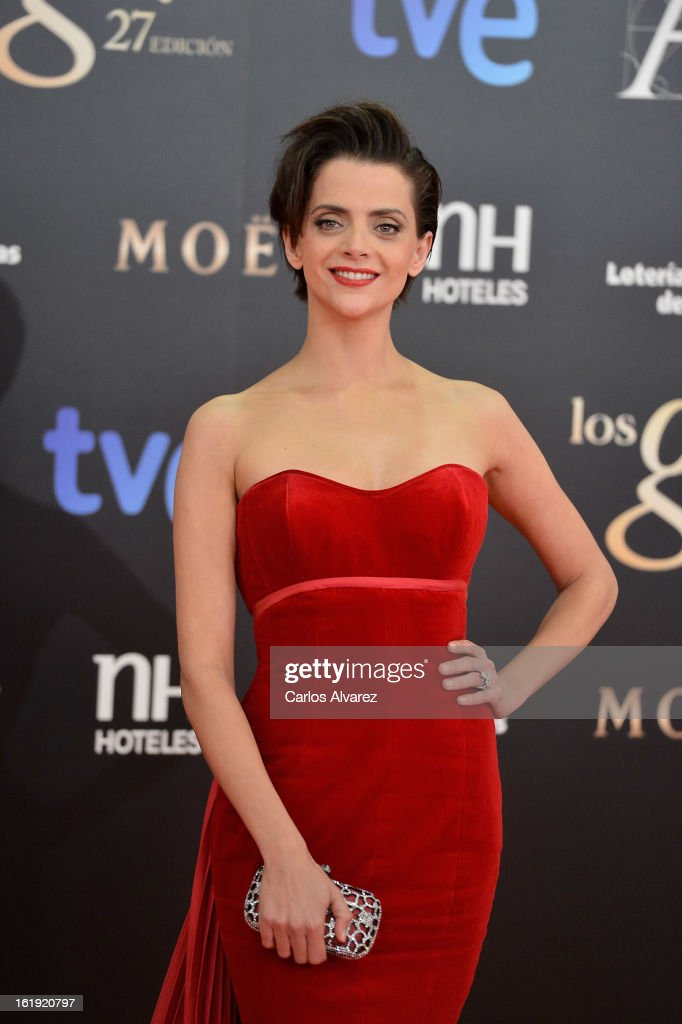 Macarena Gomez attends Goya Cinema Awards 2013 at Centro de Congresos Principe Felipe on February 17, 2013 in Madrid, Spain.