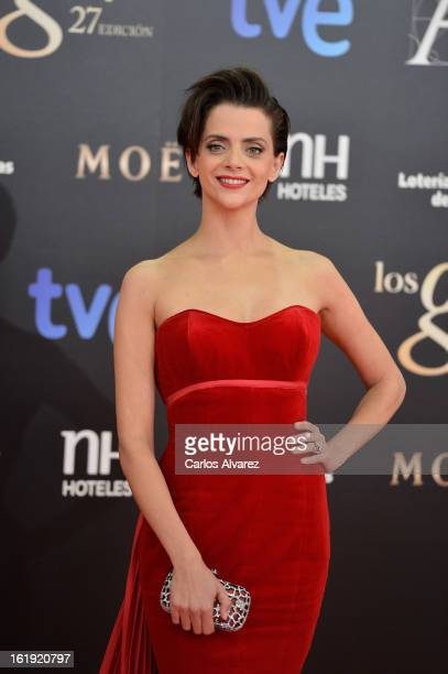 Macarena Gomez attends Goya Cinema Awards 2013 at Centro de Congresos Principe Felipe on February 17 2013 in Madrid Spain