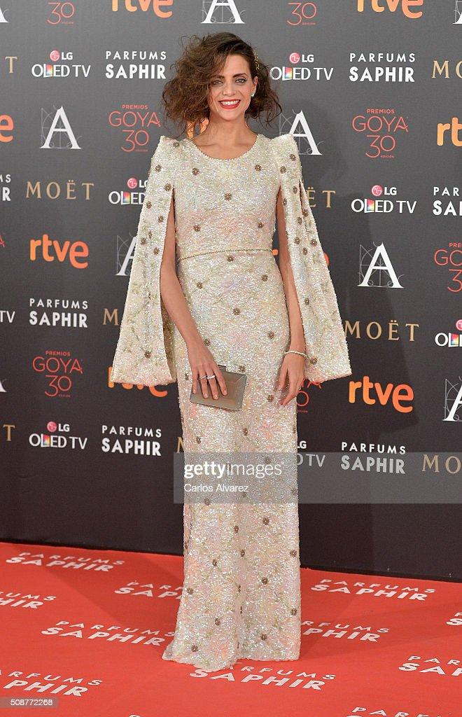 Macarena Gomez attends Goya Cinema Awards 2016 at Madrid Marriott Auditorium on February 6, 2016 in Madrid, Spain.