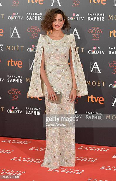 Macarena Gomez attends Goya Cinema Awards 2016 at Madrid Marriott Auditorium on February 6 2016 in Madrid Spain