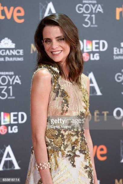 Macarena Gomez attends Goya Cinema Awards 2017 at Madrid Marriott Auditorium on February 4 2017 in Madrid Spain