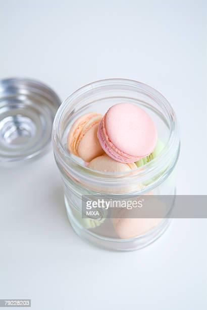 Macaroons in jar