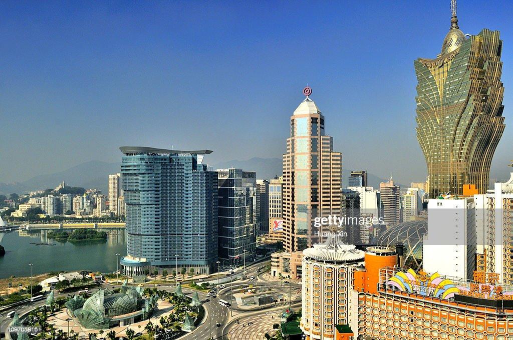Macau downtown skyline