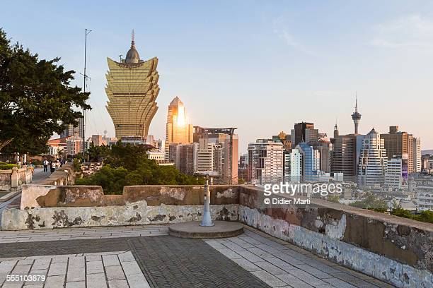Macau skyline at sunset