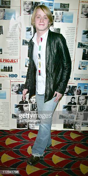 Macaulay Culkin during The New York Premiere of 'The Laramie Project' at Loews Cineplex in New York City New York United States