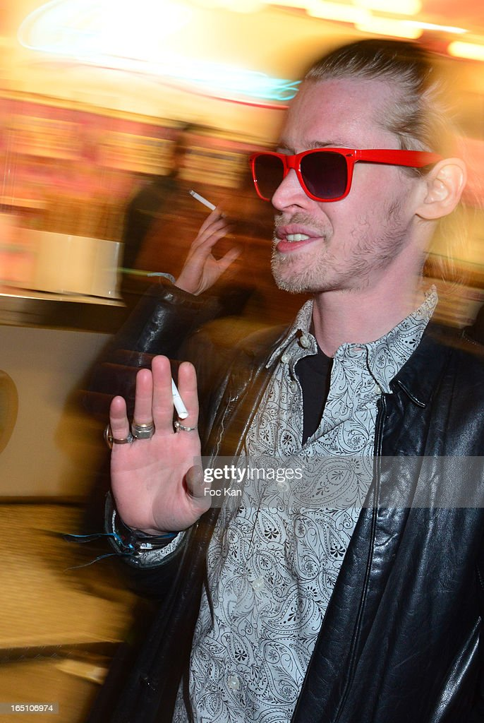 Macauley Culkin attends 'Les Toiles Enchantees' Children Care Association Auction Dinner During The 50th Foire du Trone at Pelouse de Reuilly on March 29, 2013 in Paris, France.