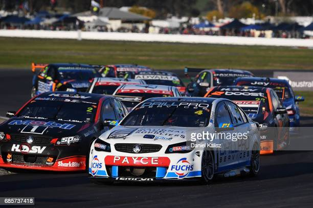 Macauley Jones drives the Drillpro Racing Holden Commodore VF during race 9 for the Winton SuperSprint which is part of the Supercars Championship at...