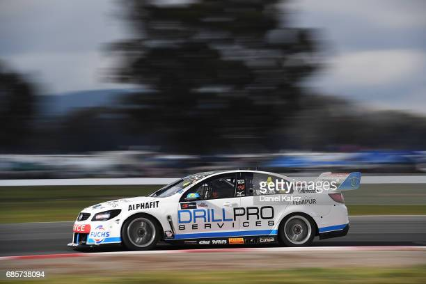 Macauley Jones drives the Drillpro Racing Holden Commodore VF during qualifying for race 9 for the Winton SuperSprint which is part of the Supercars...