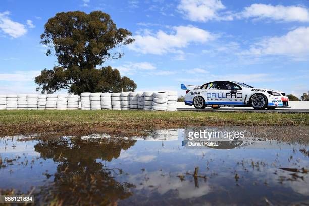 Macauley Jones drives the Drillpro Racing Holden Commodore VF during qualifying for race 10 for the Winton SuperSprint which is part of the Supercars...