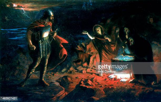 'Macbeth and the Witches' late 19th century Scene in William Shakespeare's play Macbeth