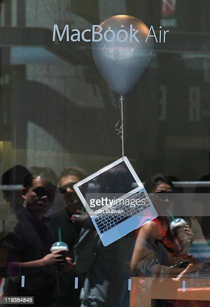 MacBook Air is displayed in the window of an Apple Store on July 19 2011 in San Francisco California Apple Inc beat Wall Street expectations with a...