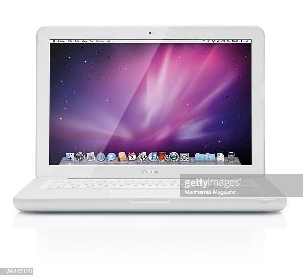 A MacBook on a white background Bath December 1 2010