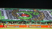 Maccabi Haifa FC supporters during the Israeli Premier League match between Maccabi Haifa FC and Maccabi TelAviv FC held on April 29 2013 at the...