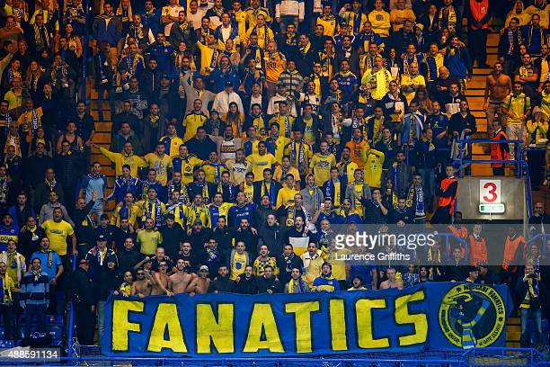 Maccabi TelAviv fans during the UEFA Chanmpions League group G match between Chelsea and Maccabi TelAviv FC at Stamford Bridge on September 16 2015...